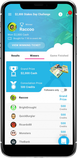 Swopstakes Mobile App Screenshot